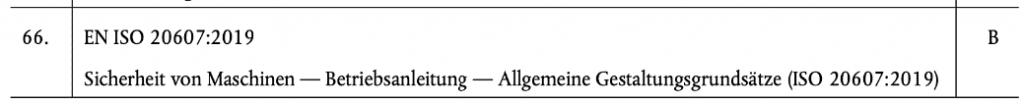 Artikel Maschinenrichtlinie Auszug