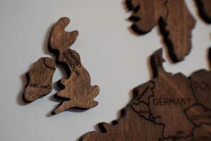 Wooden Shape of the United Kingdom and Ireland